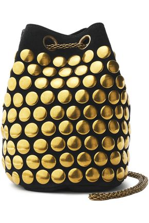 JÉRÔME DREYFUSS Studded suede bucket bag