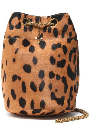 JÉRÔME DREYFUSS Leopard-print calf hair bucket bag