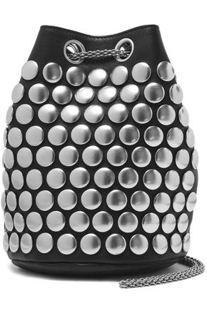 JÉRÔME DREYFUSS Popeye studded leather bucket bag