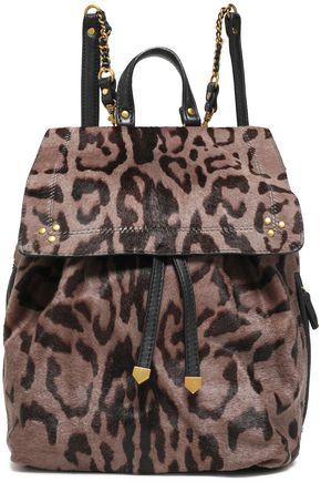 JÉRÔME DREYFUSS Florent leopard-print calf hair backpack