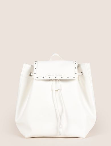 STUDDED FAUX-LEATHER BACKPACK