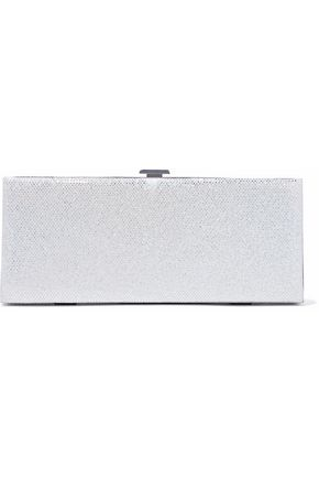 HALSTON HERITAGE Metallic suede box clutch