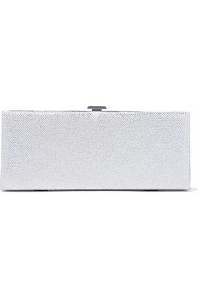 HALSTON HERITAGE Metallic suede box clutch