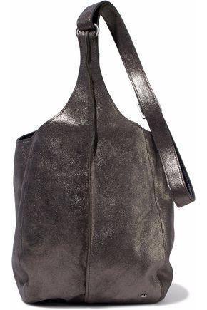 HALSTON HERITAGE Metallic glittered-leather shoulder bag