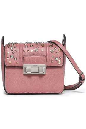 LANVIN Jiji studded textured-leather shoulder bag