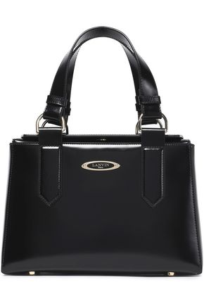 LANVIN Glossed-leather shoulder bag