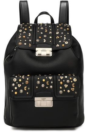 LANVIN Jiji studded textured-leather backpack