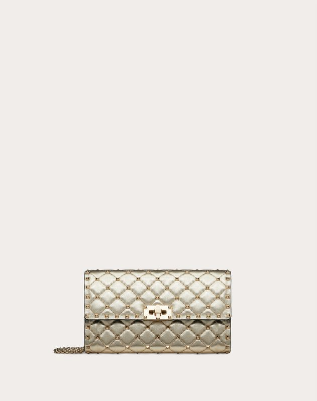 Rockstud Spike Crossbody Clutch Bag