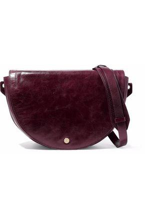 HALSTON HERITAGE Grace calf hair-paneled distressed-leather shoulder bag
