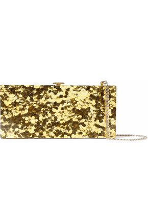HALSTON HERITAGE Glittered acrylic clutch