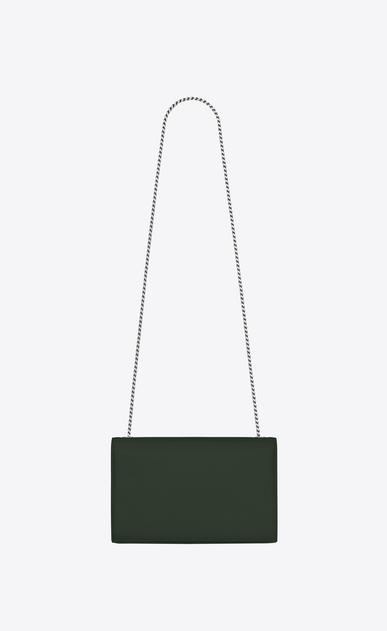SAINT LAURENT MONOGRAM KATE Damen Mittlere Kate Chain Bag aus dunkelgrünem Strukturleder b_V4