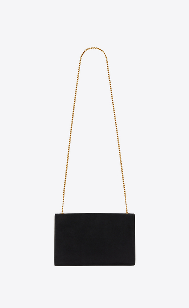 SAINT LAURENT MONOGRAM KATE Woman Medium Kate chain bag in black suede with bronze studs b_V4