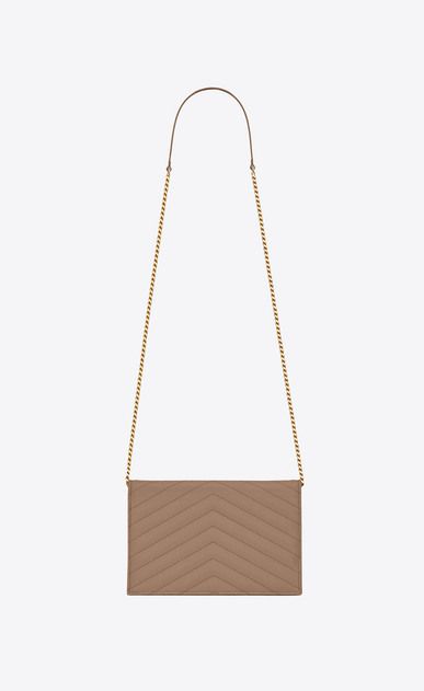 SAINT LAURENT Mini bags Enveloppe Woman envelope chain wallet in grain de poudre embossed leather b_V4