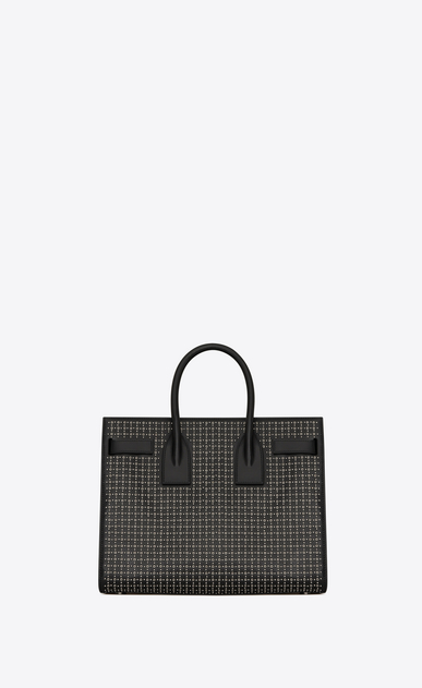 SAINT LAURENT Sac De Jour Small Woman Small Sac du Jour in black leather with silver studs and eyelets b_V4