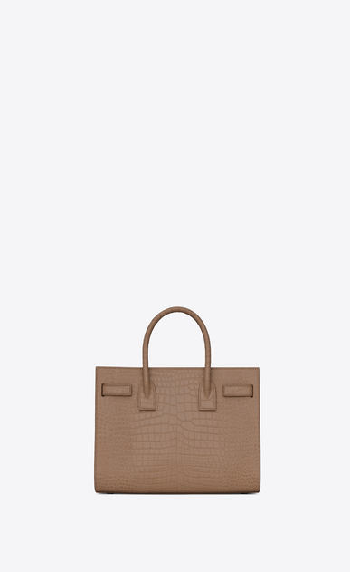 SAINT LAURENT Baby Sac de Jour Woman Baby Sac du Jour in shiny taupe crocodile embossed leather b_V4