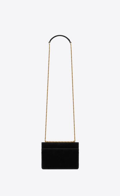 SAINT LAURENT Sunset Woman Sunset small in velvet b_V4