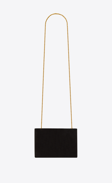 SAINT LAURENT MONOGRAM KATE Woman Small Kate chain bag in black suede with embroidered parrots b_V4