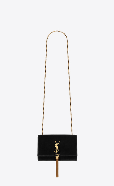 SAINT LAURENT MONOGRAM KATE WITH TASSEL Woman kate small with tassel in velvet a_V4