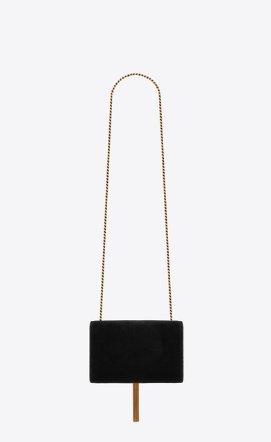 SAINT LAURENT MONOGRAM KATE WITH TASSEL Donna Borsa Kate small con catena e nappina in velluto nero b_V4