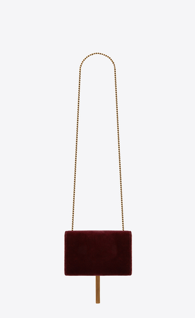 SAINT LAURENT MONOGRAM KATE Woman Small Kate chain and tassel bag in dark red velvet b_V4
