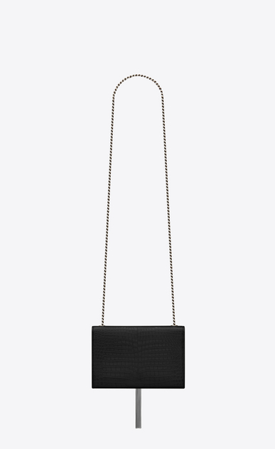 SAINT LAURENT MONOGRAM KATE WITH TASSEL Woman kate small with tassel in embossed crocodile shiny leather b_V4