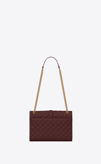 SAINT LAURENT Monogram envelope Bag Damen Medium Envelope bag in quilted and textured burgundy leather b_V4