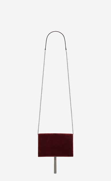 SAINT LAURENT Mini bags Kate Woman Kate chain and tassel wallet in dark red velvet and crystals b_V4