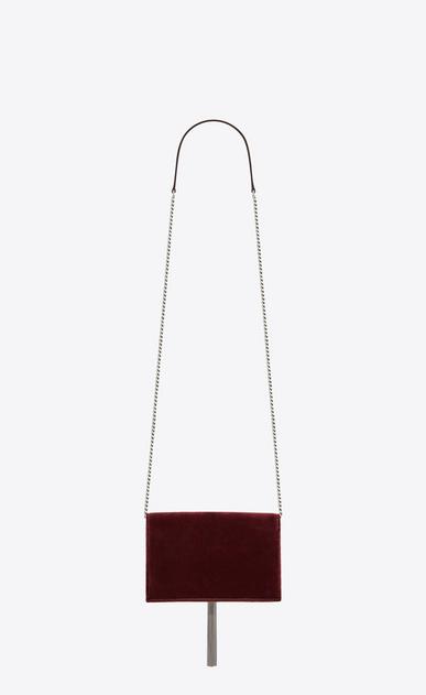 SAINT LAURENT Mini bags Kate Damen Kate Chain Wallet aus dunkelrotem Samt mit Kristallen und Quaste b_V4
