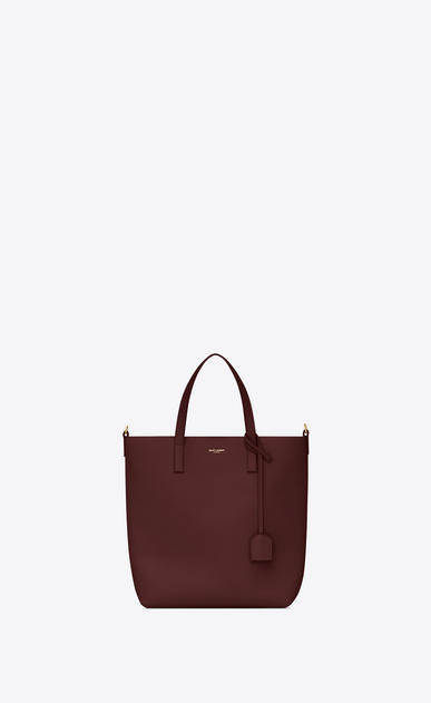 SAINT LAURENT Shopping Saint Laurent N/S Femme sac TOY shopping en cuir bordeaux a_V4