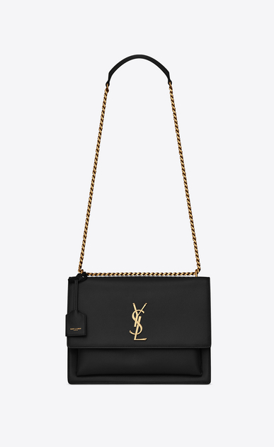 SAINT LAURENT Sunset Woman SUNSET large in smooth leather a_V4
