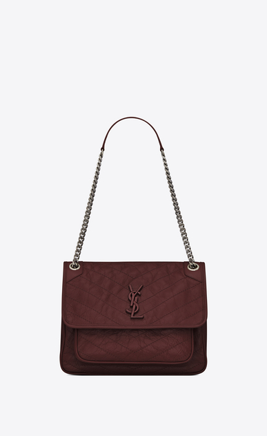 SAINT LAURENT Niki bags Woman niki medium in vintage leather a_V4