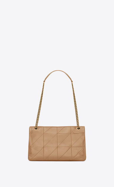 SAINT LAURENT Jamie Woman Medium Jamie bag in Sahara beige patchwork leather b_V4