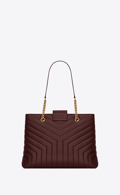 "SAINT LAURENT Monogramme Loulou レディース Large Loulou shopping bag in ""Y""-quilted burgundy leather b_V4"