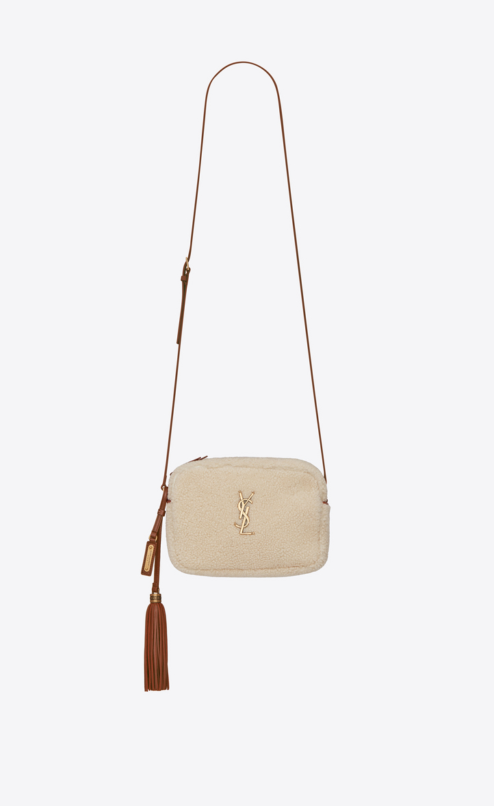 f5e42c28b6bb SAINT LAURENT Lou Camera Bag In Shearling And Leather