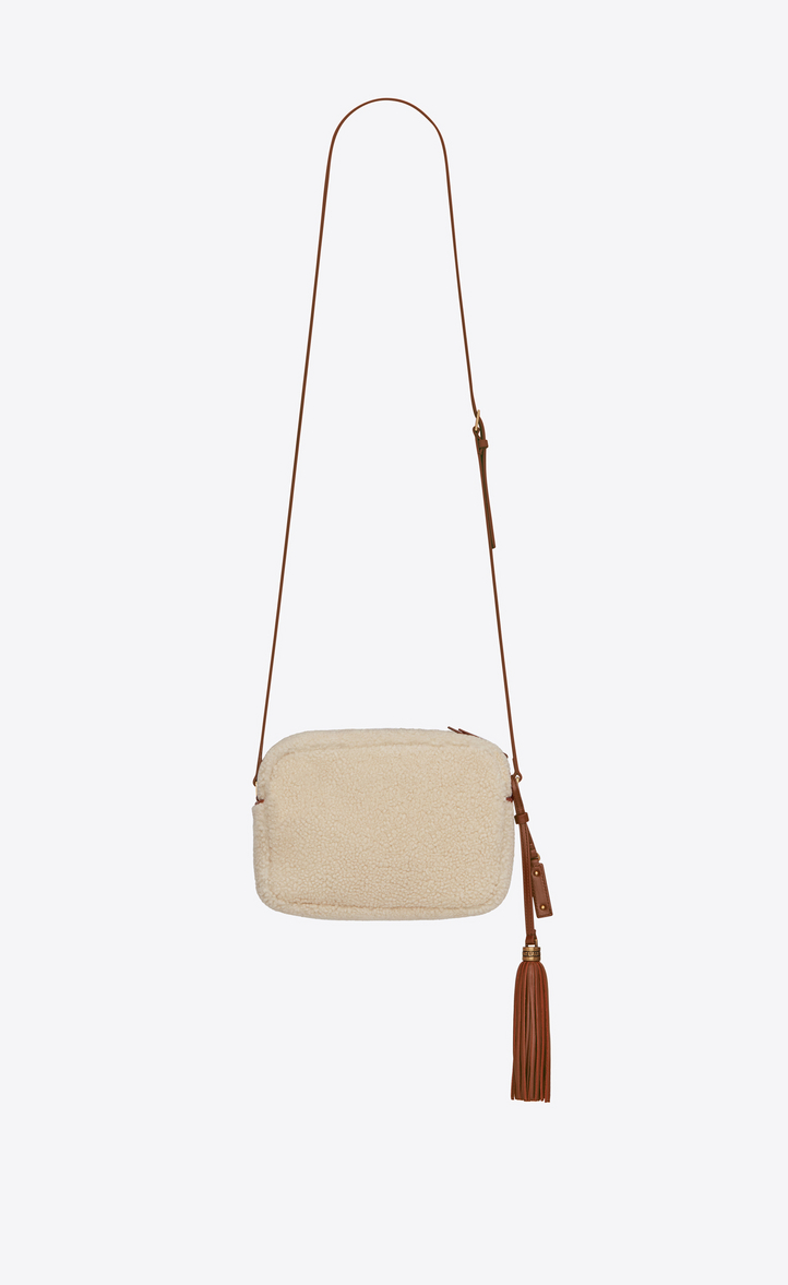 82a052059ffd SAINT LAURENT LOU CAMERA BAG IN SHEARLING AND LEATHER