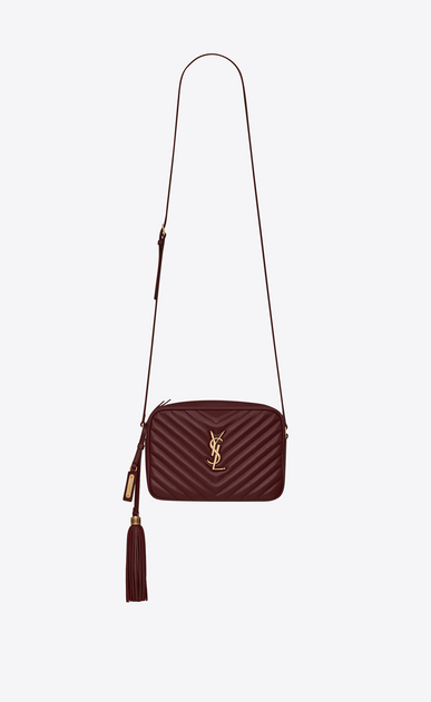 SAINT LAURENT Monogram Lou Damen Lou camera bag in quilted leather a_V4