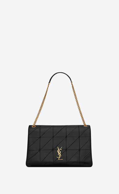 SAINT LAURENT Jamie Woman Giant Jamie bag in black patchwork leather a_V4