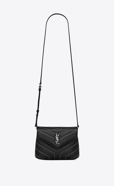 "SAINT LAURENT Mini bags Loulou Woman Loulou studded toy bag in matelassé ""y"" shiny leather a_V4"