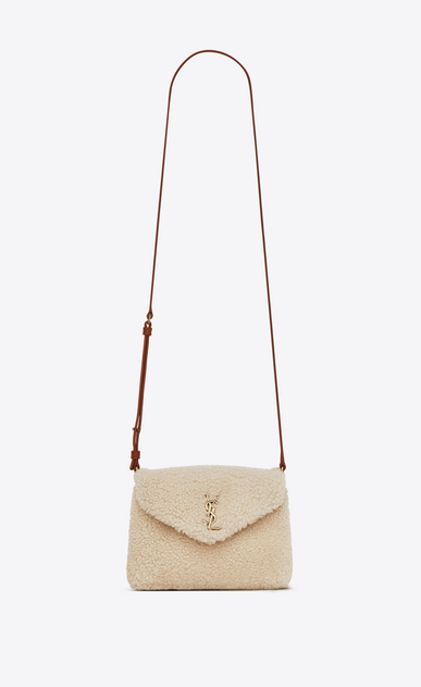 SAINT LAURENT Mini bags Loulou Woman loulou toy bag in shearling and leather a_V4