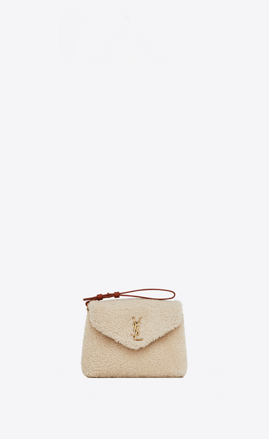 SAINT LAURENT Mini bags Loulou Woman loulou toy bag in shearling and leather b_V4