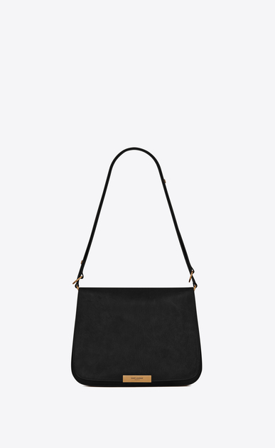 SAINT LAURENT Amalia Woman Amalia satchel in black leather a_V4