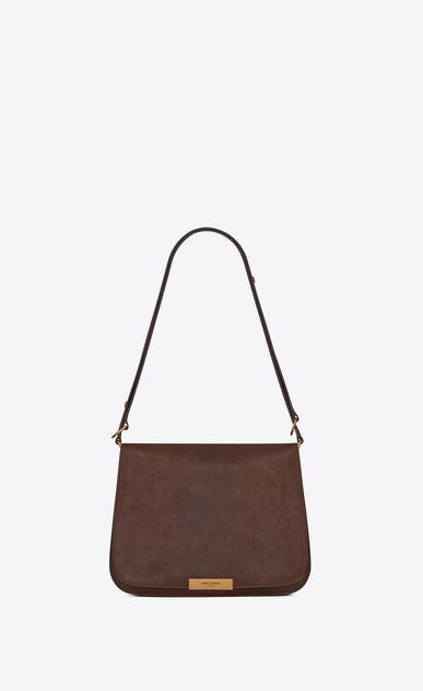 SAINT LAURENT Amalia Woman Amalia satchel in vintage brown leather a_V4