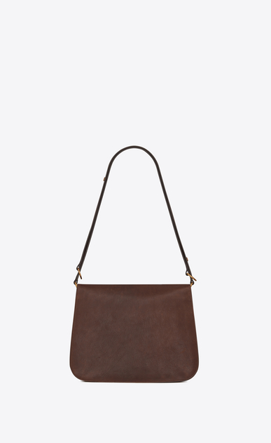 SAINT LAURENT Amalia Woman Amalia satchel in vintage brown leather b_V4