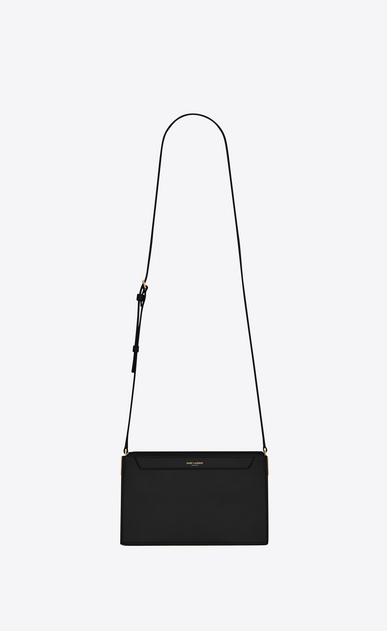 SAINT LAURENT Catherine Woman Catherine satchel in black leather a_V4
