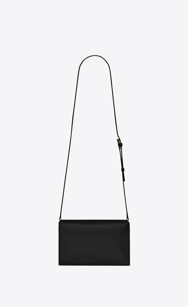 SAINT LAURENT Catherine Woman Catherine satchel in black leather b_V4