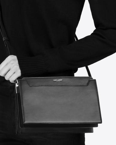 SAINT LAURENT Catherine Woman Catherine satchel in black leather y_V4