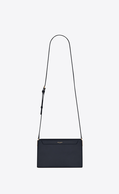 SAINT LAURENT Catherine Woman Catherine satchel in navy blue leather a_V4