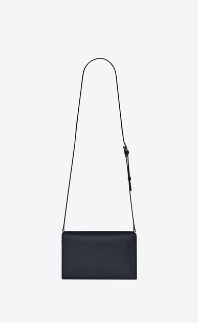 SAINT LAURENT Catherine Woman Catherine satchel in navy blue leather b_V4
