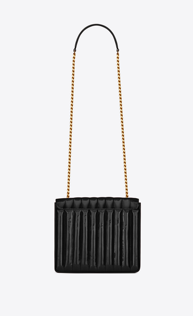 SAINT LAURENT Vicky Woman Large Vicky bag in black patent leather b_V4