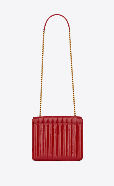 SAINT LAURENT Vicky Woman Large Vicky bag in Eros red patent leather b_V4